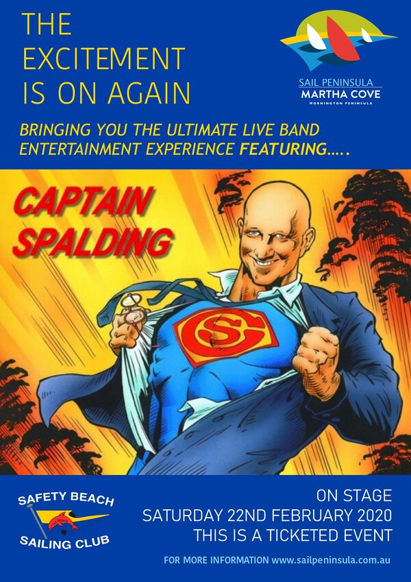 Promotional Flyer for Captain Spalding 6x4
