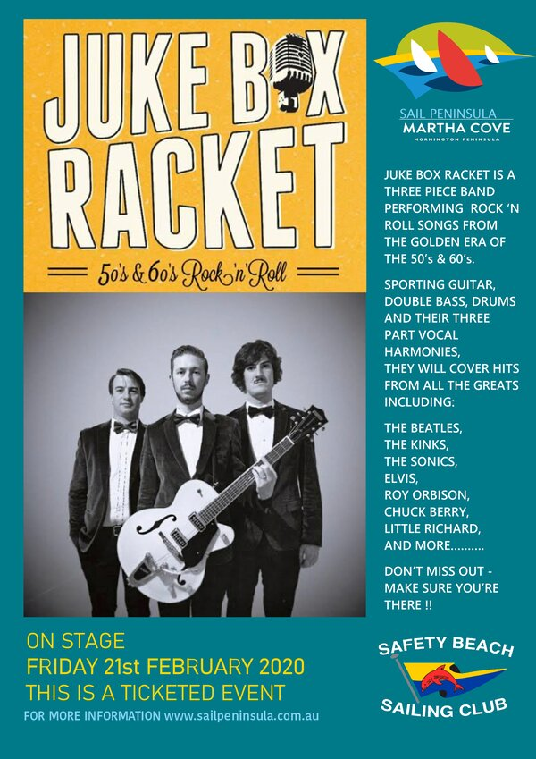 Promotional Flyer for Juke Box Racket 6x4
