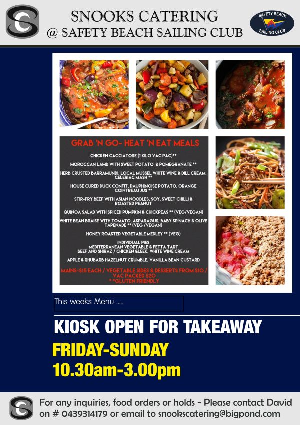 Snooks Catering Flyer 16 Oct 2020 weekend