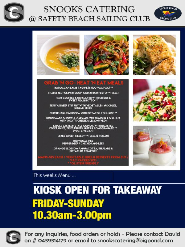 Snooks Catering Flyer 18 Sept 2020 weekend