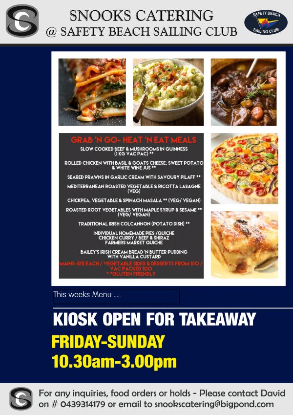 Snooks Catering Flyer 21 August 20 weekend