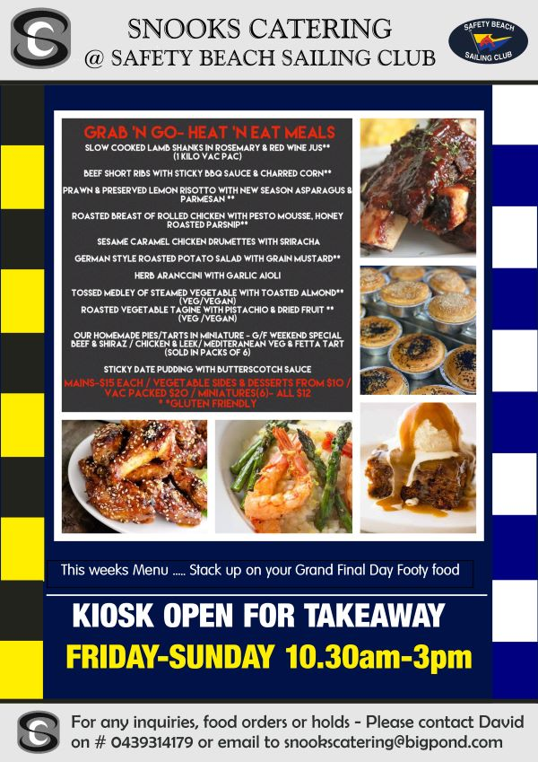 Snooks Catering Flyer 23 Oct 2020 weekend
