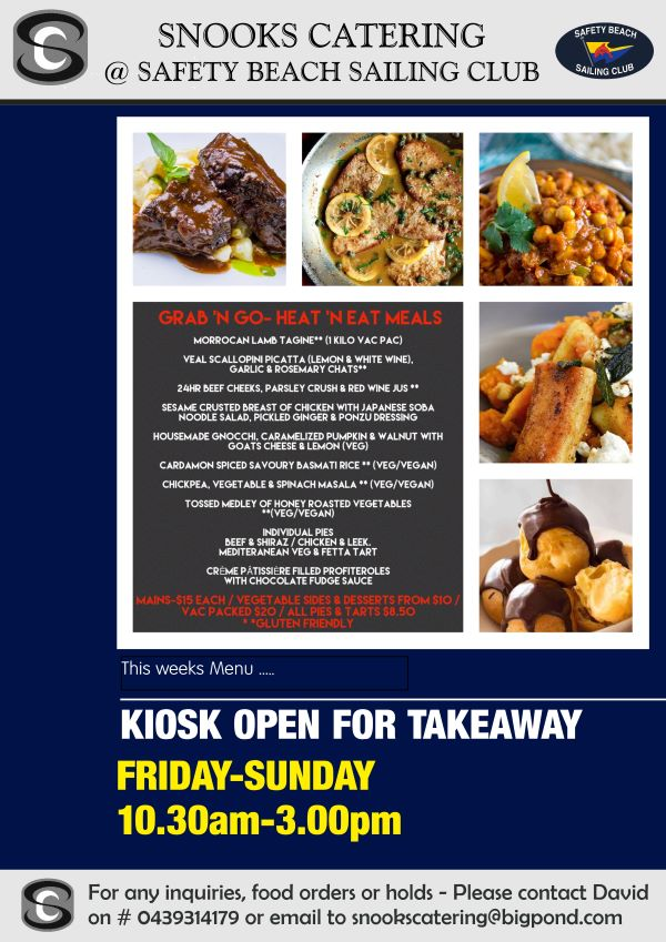 Snooks Catering Flyer 30 Oct 2020 weekend